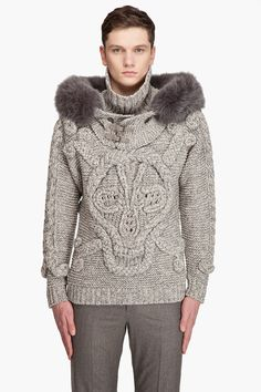Alexander MCQueen // Hooded Skull Sweater