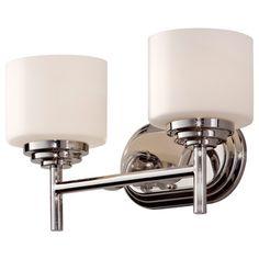 2-light Polished Nickel Vanity Fixture   Overstock.com Shopping - Top Rated Sconces & Vanities