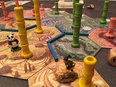 Fun game of Takenoko with Raquel #boardgames #bgg @illustratorgal