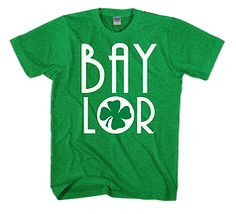 Baylor four leaf clover tee // #SicEm Saint Patrick's Day for making the whole world a Baylor fan.