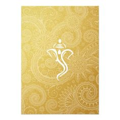 Gold Vinayaka Wedding Invitations