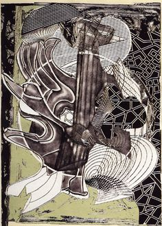 Frank Stella, The Fossil Whale, etching, aquatint, relief, 1991, antiquesandthearts.com