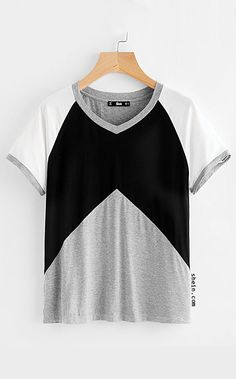 Heather Knit Raglan Sleeve Cut And Sew Tee