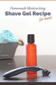 Homemade Moisturizing Shave Gel Recipe for Men from RecipeswithEssentialOils.com