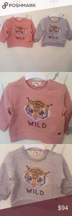 NWT The Bonnie Mob, Stitched Tiger sweatshirts Got TWINS?? These sweatshirts are sooooo soft, wish I could wear them!! This is great for boy/girl or girl/girl TWINS! Perfect gift. Check out the close up picture of the tiger...extremely well made. Please message me if you're only interested in one, these are priced for 2 for 1 sale 😁 the bonnie mob Shirts & Tops Sweatshirts & Hoodies