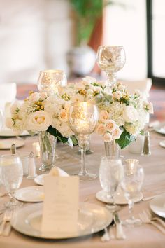 Reception, Flowers & Decor, white, ivory, silver,