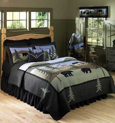 Thank you. You will receive a $1 off coupon during checkout. Bear Lake Rustic Cabin Quilt - Ensembles