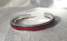 Armreife - Armreif Leder pink anthrazit silber  - ein Designerstück von SchmuckKitchen bei DaWanda