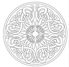 free coloring pages like metabots | Free coloring page free-mandala-to-color-cubes-3d. It's ...
