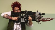 Gears of War 3: Retro Lancer. Held by none other than Adam Smith- the man behind the inspiration for this board!