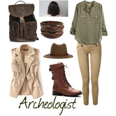 Archeologist by ravenclawchick853 on Polyvore featuring polyvore, fashion, style, H&M, Polo Ralph Lauren and rag & bone