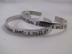 Parabatai Bracelet Cuffs Whither Thou Goest I Will Go Cassandra Clare Mortal Instruments Infernal Devices Best Friend Geekery