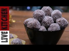 Πανεύκολα Tρουφάκια σε 5' Με 3 Υλικά - 3 Ingredients Coconut Truffles - YouTube Kitchen Living, Cake Pops, Blueberry, Raspberry, Muffin, Sweets, Chocolate, Fruit, Breakfast