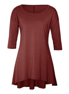 An easy, seasonless piece, the tunic in drapy pima (51%) and modal (49%) jersey is styled with drop shoulders, elbow-length sleeves and a floataway hem that curves longer in back. The flattering silhouette is shaped through the torso and eases at the hip.