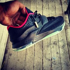 0d735a66a34 The Nike KD 7  KDezzy  customs by FBCC NYC play off of the Air Yeezy 2   Black Solar  colorway