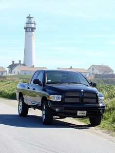 Review of 2014 Dodge Truck Models----- I love the light house in the background haha