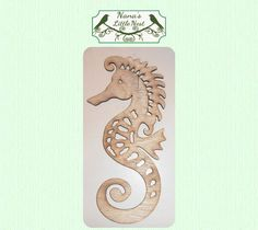 This is a laser cut wood seahorse.