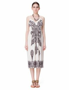 Zlyc Women's Tribal Totem Black and White Kaleidoscope Print Beach Dress (White) ZLYC http://www.amazon.com/dp/B00KIM7S14/ref=cm_sw_r_pi_dp_w.tKtb1CRXC49J6N