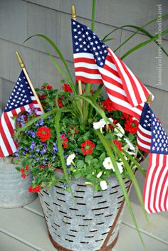 Independence Day planter