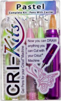 Cri-Kits - Pastel Gel Pens for Your Cricut® Complete Kit-10 Pens + Holder