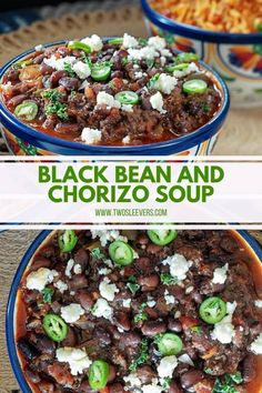 This Instant Pot Black Beans And Chorizo Soup combines delicious black beans and chorizo into a tasty and hearty soup. It makes a great side or main dish. #instantpotblackbeans #cubanblackbeans #chorizo #cubanstew #instantpotsoup Black Bean Stew, Cuban Black Beans, Dried Black Beans, Gf Recipes, Bean Recipes, Soup Recipes, Pressure Cooker Recipes, Pressure Cooking, Slow Cooker