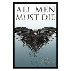 buyartforless Game of Thrones - All Men Must Die Framed Wall Poster