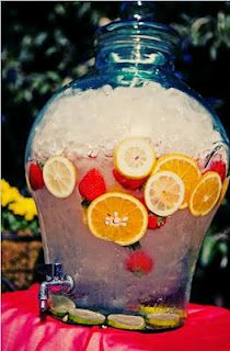 Water and Fresh Fruit