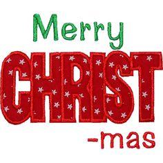 Merry CHRISTmas Applique by HappyApplique.com