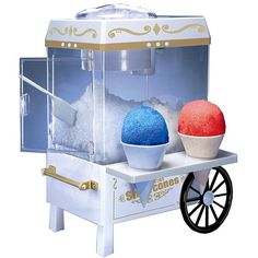 Bring the style of the past into your present life with an old-fashioned snow cone makerSpecialty appliance features the fun carnival style of days gone bySnow cone maker will bring friends, family and neighbors around