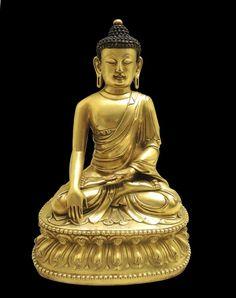 Chinese Ming Dynasty Gilt Buddha Lot 4