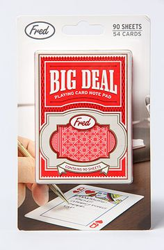 The Big Deal Playing Card Notepad by FRED