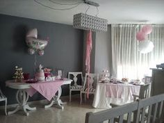 Baby showers Baby Showers, Shower Ideas, Chandelier, Ceiling Lights, Home Decor, Christening, White People, Candelabra, Decoration Home