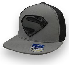 Superman Man of Steel Snap Back Hat