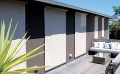 G-Screen blinds! the top of the range for designer outdoor blinds. These streamlined cassette style . Outdoor Decor, Range, Cassette, Colours, Home Decor, Screen, Dulux Australia, Outdoor Blinds, Blinds