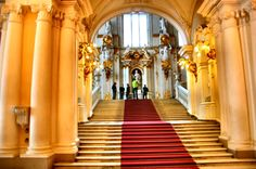 PETERHOF PALACE --Winter palace grand stairway
