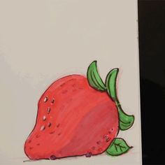 Purple Pikmin grabbing a strawberry. So derpy.
