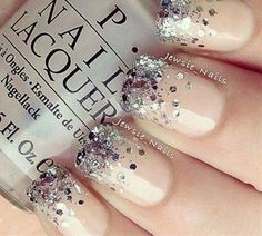 Sparkling Nail Idea - Click image to find more nail art posts