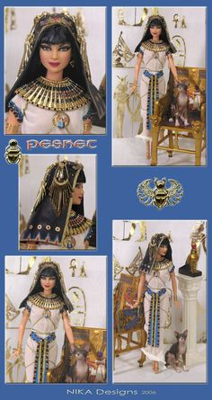 peshet an egyptian barbie repaint