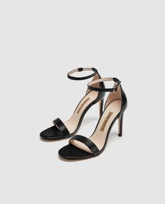 Image 4 of LEATHER HIGH HEEL SANDALS from Zara