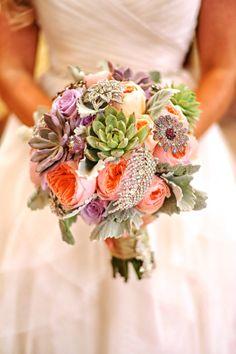 My daughter's bridal bouquet, designed by Lana, Fairbanks florist.net