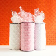 Polka Dot Tulle Spool Light Baby Pink 6 by BeautifulAdditions, $12.00