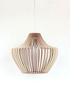 lampe de plafond décoratif élégant et moderne. Le bois offre une luminosité douce pour l'atmosphère et une lumière agréable. Lampe design s'adaptera les styles classiques et modernes; peut être...