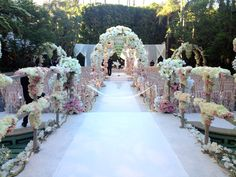 Recent client wedding with an ornate runner that took hours hours to create (barely visible in this photo). Amazing florals by Mark's Garden on Los Angeles. Wedding Ceremony Ideas, Wedding Bride, Wedding Flowers, Wedding Venues, Dream Wedding, Wedding Ceremonies, Perfect Wedding, Wedding Reception, Indian Wedding Decorations