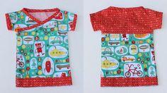 baby kimono tshirt free pattern