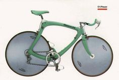 Another 1987 Bianchi C4 TT bike (in Bianchi Celeste): Ear splittingly gorgeous. To say that I want one of these would be an understatement.