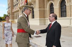 Royals & Fashion - King Felipe and Queen Letizia attended the ceremony graduation from the military academy of Zaragoza.