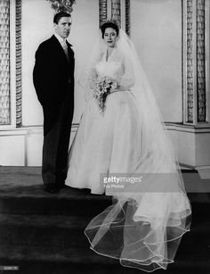 Princess Margaret (1930 - 2002) and Antony Armstrong-Jones on their wedding day…