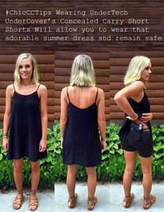 UnderTech UnderCover's Concealed Carry Short Shorts will allow you to wear that adorable summer dress and remain safe! Concealed Carry Women, Concealed Carry Holsters, Concealed Carry Clothing, Open Carry, Carry On, Compression T Shirt, Summer Dresses, Shift Dresses, Short Shorts