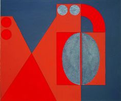 Felguerez_El vigía, 1973 acrílico sobre cartón 36 x 30 cm Colección del artista
