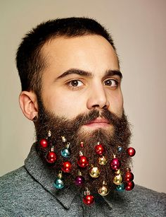 Merry Beard-mas turn your facial scruff into a festive tree with beard baubles - designboom | architecture